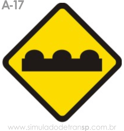 Placa de advertência A-17: Pista irregular