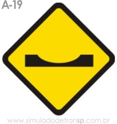 Placa de advertência A-19: Depressão