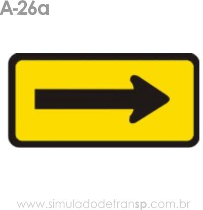 Placa de advertência A-26a: Sentido único