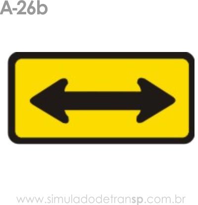 Placa de advertência A-26b: Sentido duplo