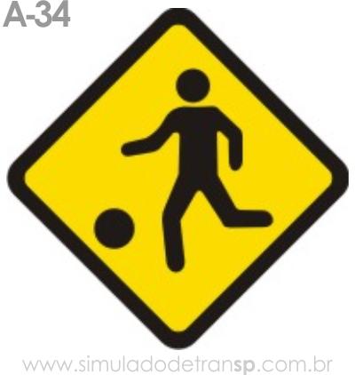 Placa de advertência A-34: Crianças