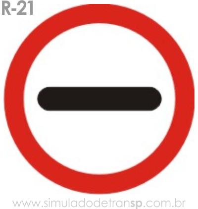 Placa de Regulamentação R-21 Alfândega - manual brasileiro de sinalização - Simulado Detran SP 2019