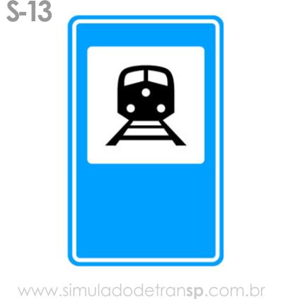 Placa auxiliar de serviço S13 - Terminal ferroviário