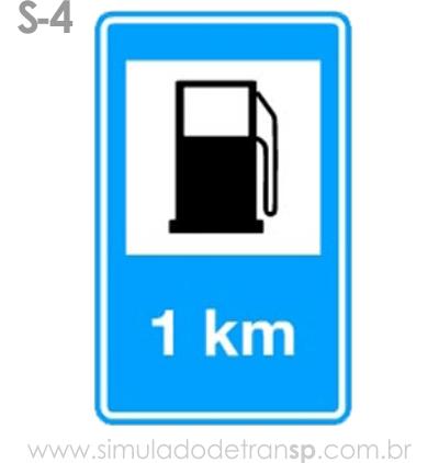 Placa auxiliar de serviço S4 - Abastecimento