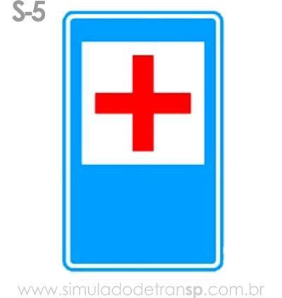Placa auxiliar de serviço S5 - Pronto socorro