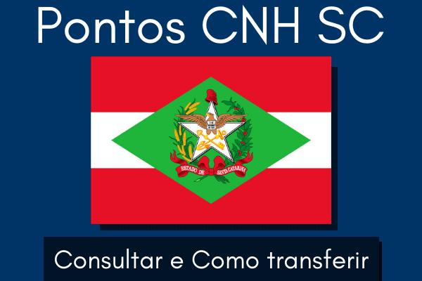 Pontos CNH SC – Consultar e como transferir