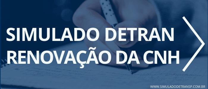 SIMULADO DETRAN SP - renovação da CNH