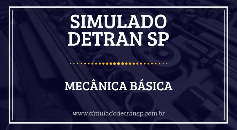 Simulado Detran SP Mecânica Básica